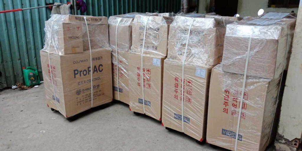 Hàng hóa chành xe Nha Trang được bao bọc